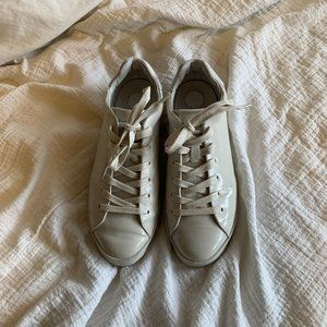 lightly worn off-white rag & bone leather sneakers